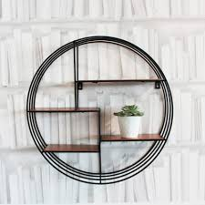 circular metal wall shelf