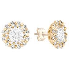 gold diamond earrings layered diamond earring jackets in 14k white gold shane co
