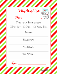 wish list christmas wishlist printable letter real housemoms