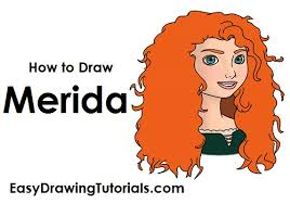 how to draw merida