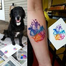 are branding themselves with paw tattoos
