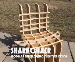 sharkchair modular interlocking furniture design 9 steps with