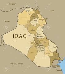 map of bagdad map of iraq with provinces governorates in various colours