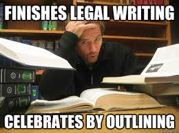Legal Memes - finishes legal writing celebrates by outlining thanks suzanne