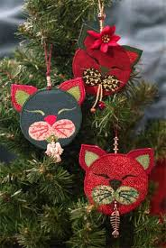 cranberry kitty christmas ornament u2013 storyquilts