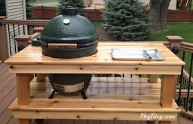 large green egg table the big green egg diy table hey fitzy
