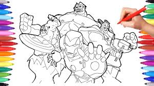 superheroes coloring pages for kids how to draw and color iron