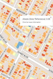lbl map map reveals rooftop reflectance for five california