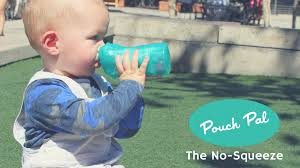 pouch pal the no squeeze food pouch feeder for kids by jennifer