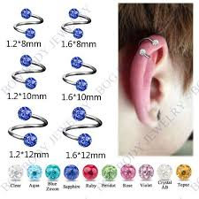 bar earring cartilage 10 pieces set cartilage spiral twist barbell eyebrow lip ear