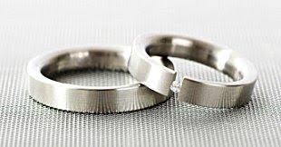 surgical steel band stainless steel wedding rings
