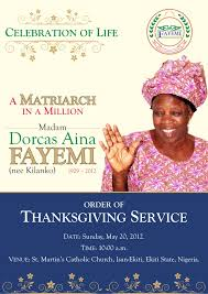 of thanksgiving service
