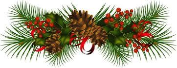 christmas garland pine garland clipart 46