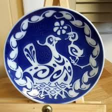 blue and white plate ceramic plate home decor royal