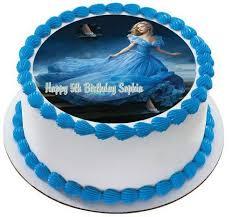 cinderella birthday cake cinderella 2 edible birthday cake and cupcake topper edible