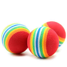 5pcs 2017 colorful puppy toys soft foam rainbow pet toys
