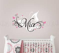 Custom Wall Decals For Nursery Flower Swirls Custom Wall Decals For Nursery Butterfly Customized