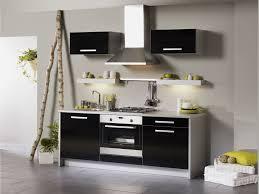 meuble de cuisine noir cuisine et grise pas cher sur cuisine lareduc com