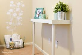 Wall Console Table Simple Ikea Hack Narrow Console Table Hey Let U0027s Make Stuff