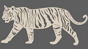 bengal tiger walking dxf files cut ready cnc designs dxfforcnc com