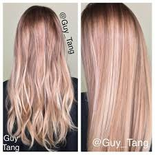 rose gold lowlights on dark hair blonde hair w dimension different shades of blonde style