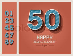 template happy birthday card with number editable stock vector