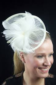 hair fascinator large ivory contemporary style hairband fascinator hair fascinators