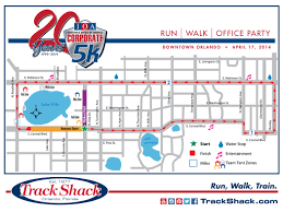 Map Of Downtown Orlando by Corporate 5k To Close Orlando Streets