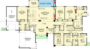 Homeplan Com by Stunning Contemporary Ranch Home Plan 69510am Architectural