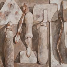 plasterer u0027s tools painting by anke classen