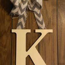 Appealing Letter K Wall Decor Shop Wooden Door Hanger On Wanelo