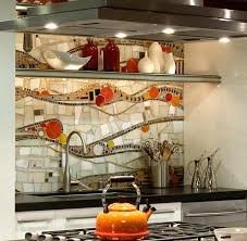 Gleaming Mosaic Kitchen Backsplash Designs - Creative backsplash