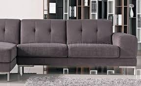 sofas with metal legs sectional sofa in grey fabric 1071b by vig w metal legs