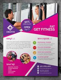free fitness gym flyer template psd mock up pinterest flyer