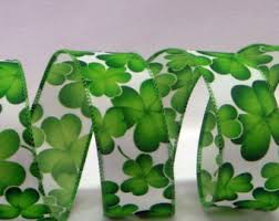 shamrock ribbon st patricks day etsy