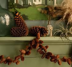 pinecone garland diy pinecone garland design sponge