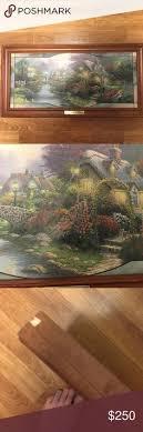 kinkade painting cobblestone bridge cobblestone lv
