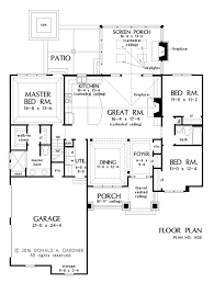 Donald Gardner Floor Plans Craftsman Style House Plan 3 Beds 2 00 Baths 1622 Sq Ft Plan