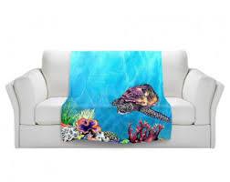 Sea Turtle Bed Sheets Sea Turtle Blanket Etsy