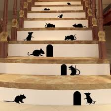 boodecal diy rats mice doors sets of 15 vinyl lettering decal home