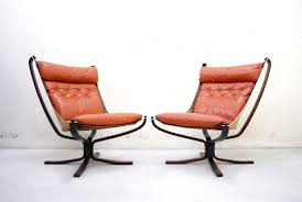Leather Lounge Chair Falcon Cognac Leather Lounge Chairs By Sigurd Ressell For