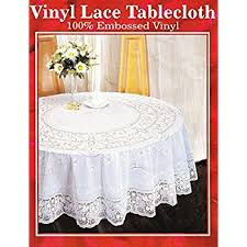 lace vinyl table covers vinyl lace table cloth 100 embossed vinyl 72 round amazon co uk