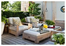Patio Chairs With Ottoman Weathered Teak Patio Chairs Design Ideas