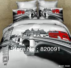brand new london city bedlinen bridge red double decker buses