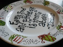 painted platters personalized painted plate every and gift family