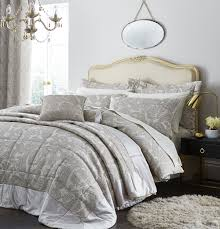 catherine lansfield opulent jacquard champagne duvet cover set king