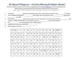philippines worksheet free word search games geography for kids