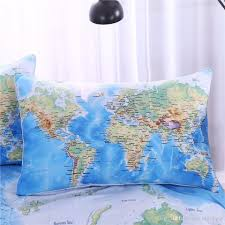 Octonauts Bed Set 2016 World Map Bedding Set Printed Blue Bed Cover Twill Cozy