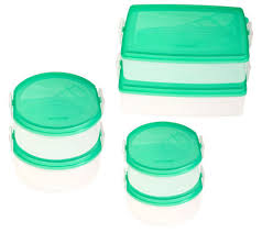 snapware snap n stack 6 food storage container set qvc