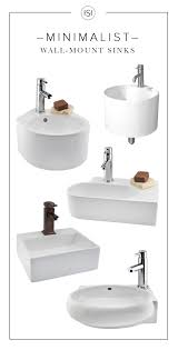 Wall Mount Bath Sink With Their Clean Lines And Modern Shapes These Wall Mount Sinks